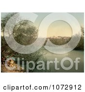 Photochrom Of The Place Of The Baptism On The River Jordan Royalty Free Historical Stock Photography by JVPD