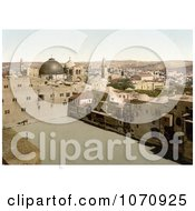 Photochrom Of The Pool Of The Patriarchs Bath Pool Of Hezekiah Jerusalem Royalty Free Historical Stock Photo by JVPD