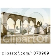 Photochrom Of The Pulpit Of The Cadi Borhan Ed Din Jerusalem Royalty Free Historical Stock Photo by JVPD