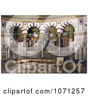 Photochrom Of The Rock In The Mosque Of Omar Jerusalem Royalty Free Historical Stock Photo