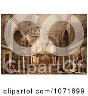 Photochrom Of The Throne Room Oft He Bardo Palace Tunisia Royalty Free Historical Stock Photo by JVPD