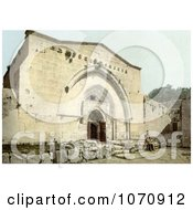 Photochrom Of The Tomb Of The Virgin And Cave Of Agony Royalty Free Historical Stock Photo by JVPD