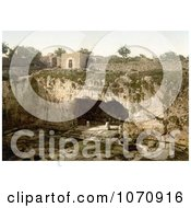 Photochrom Of The Tombs Of The Kings Jerusalem Israel Royalty Free Historical Stock Photo