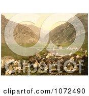Photochrom Of The Village Of Andermatt Switzerland Royalty Free Historical Stock Photography