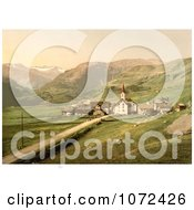 Photochrom Of The Village Of Of Realp Near Furka Pass Switzerland Royalty Free Historical Stock Photography