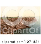 Photochrom Of The West Beach And Oberland Of Heligoland Germany Royalty Free Historical Stock Photo by JVPD