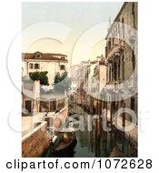 Photochrom Of Three Bridges Venice Italy Royalty Free Historical Stock Photography by JVPD