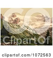 Photochrom Of Titlus Mountain In Switzerland Royalty Free Historical Stock Photography