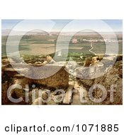 Photochrom Of Tombs At Carthage And Goletta Tunisia Royalty Free Historical Stock Photo by JVPD