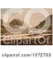 Photochrom Of Tverdalen At Advent Bay Spitzbergen Norway Royalty Free Historical Stock Photography by JVPD