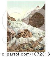 Photochrom Of Unterer Grindelwald Glacier Switzerland Royalty Free Historical Stock Photography