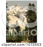 Photochrom Of Upper Engadine Bernina Grisons Switzerland Royalty Free Historical Stock Photography