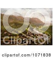 Photochrom Of Upper Prahova Sinaia Romania Royalty Free Historical Stock Photo