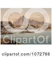 Photochrom Of Vaagakallen Kabelvaag Norway Royalty Free Historical Stock Photography