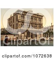 Photochrom Of Vendramin Calergi Palace Royalty Free Historical Stock Photography by JVPD