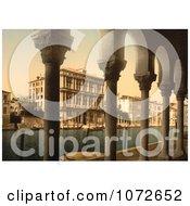 Photochrom Of Vendramin Palace Venice Italy Royalty Free Historical Stock Photography