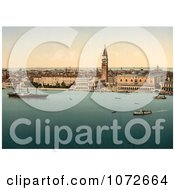 Photochrom Of Venice Italy With DogeS Palace Royalty Free Historical Stock Photography