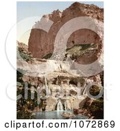 Photochrom Of Waterfalls In The Cascades Constantine Algeria Royalty Free Historical Stock Photography by JVPD
