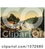 Photochrom Of Waterfalls Tinnfossen Telemark Norway Royalty Free Historical Stock Photography by JVPD