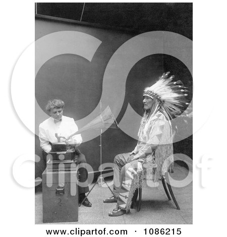 Piegan Indian, Mountain Chief and Phonograph - Free Historical Stock Photography by JVPD