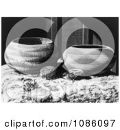 Pomo Baskets Free Historical Stock Photography