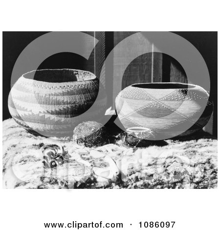 Pomo Baskets - Free Historical Stock Photography by JVPD