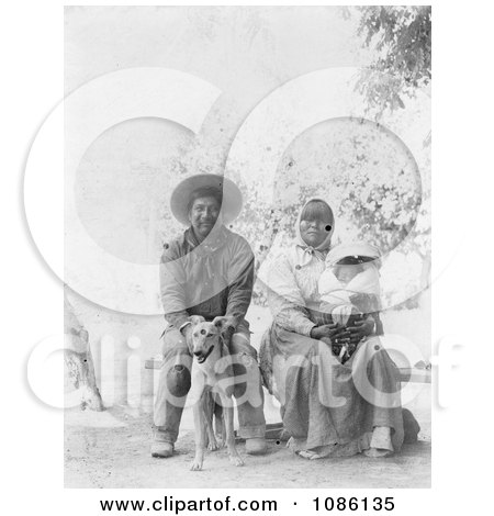 Pomo Indian Family - Free Historical Stock Photography by JVPD