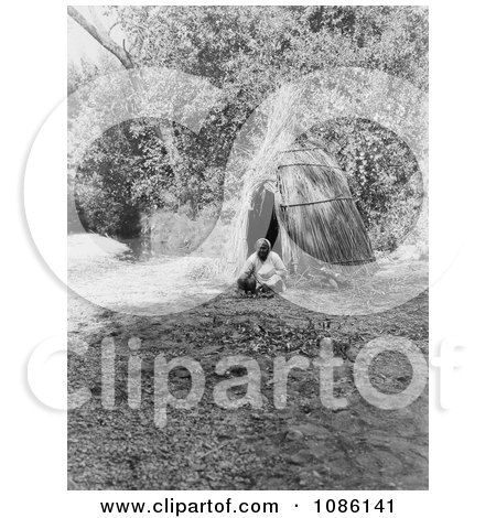 Pomo Indian Woman Cooking Acorns - Free Historical Stock Photography by JVPD
