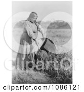 Pomo Woman Gathering Seeds Free Historical Stock Photography by JVPD