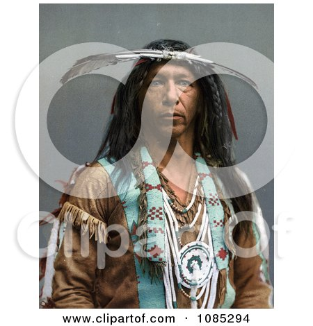 Portrait Of An Ojibwa Native American Indian Brave Man Known As Arrowmaker, 1903 - Free Photochrome Stock Photo by JVPD