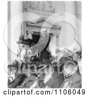 President Calvin Coolidge Decoration Day Ceremonies Royalty Free Historical Stock Photo
