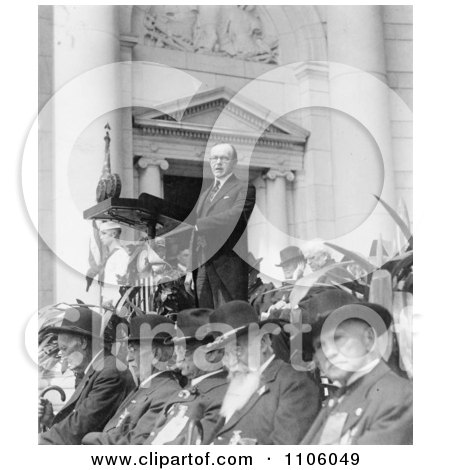 President Calvin Coolidge, Decoration Day Ceremonies - Royalty Free Historical Stock Photo by JVPD
