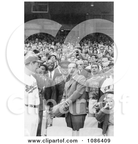 President Nixon Tossing a Baseball - Free Historical Baseball Stock Photography by JVPD
