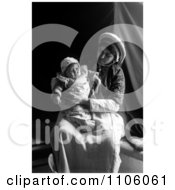 Ramallah Woman Holding Her Baby In Her Lap Royalty Free Historical Stock Photo by JVPD