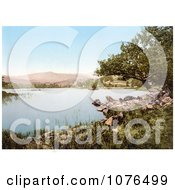 Rocky Shore On Rydal Water Lake District Cumbria England UK Royalty Free Stock Photography