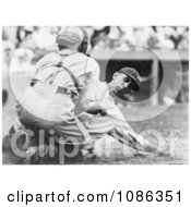 Roger Peckinpaugh Beting Tagged Out At Home Base While Sliding Free Historical Baseball Stock Photography by JVPD