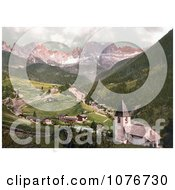 Rosengarten And St Cyprian Tyrol Austria Royalty Free Stock Photography by JVPD