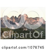 Rosengarten Mountain Group Tyrol Austria Royalty Free Stock Photography