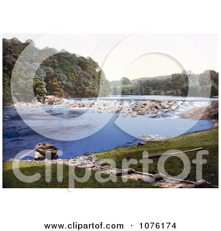 Rowboat on the Shore of the River Eden in the Lake District Armathwaite Cumbria England UK - Royalty Free Stock Photography  by JVPD
