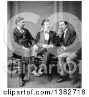 Royalty Free Historical Photo Of David Gray Mark Twain Samuel Langhorne Clemens And George Alfred Townsend Sitting And Talking
