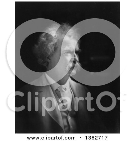 Royalty Free Historical Photo of Mark Twain, Samuel Langhorne Clemens, 1907, Black and White by JVPD