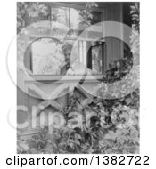 Royalty Free Historical Photo Of Mark Twain Samuel Langhorne Clemens Looking Out A Window Into A Garden 1903
