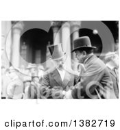 Royalty Free Historical Photo Of Mark Twain Samuel Langhorne Clemens Shaking Hands With A Gentleman At An Event by JVPD