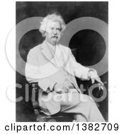 Royalty Free Historical Photo Of Mark Twain Samuel Langhorne Clemens Sitting In A Chair And Holding A Cigar by JVPD