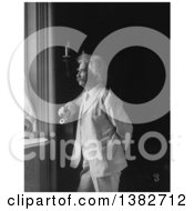 Royalty Free Historical Photo Of Mark Twain Samuel Langhorne Clemens Stnading And Looking Out Of A Window by JVPD
