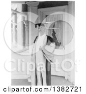 Royalty Free Historical Photo Of Mark Twain Samuel Langhorne Clemens Wearing A Cap And Gown 1907 by JVPD