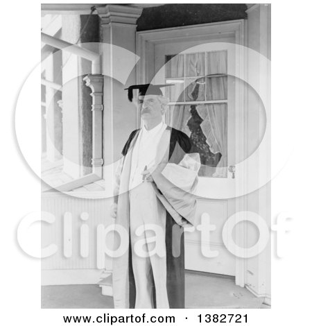 Royalty Free Historical Photo of Mark Twain, Samuel Langhorne Clemens, Wearing a Cap and Gown, 1907 by JVPD