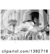 Royalty Free Historical Photo Of Mark Twain Samuel Langhorne Clemens Wearing A Top Hat In A Crowd