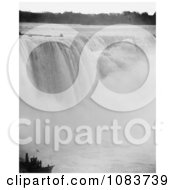 Rushing Waters Of Horseshoe Falls Crashing Into Mist Below Niagara Falls Royalty Free Historical Stock Photography by JVPD