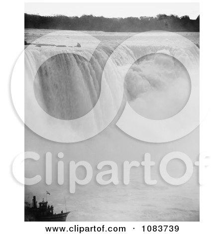 Rushing Waters Of Horseshoe Falls Crashing Into Mist Below, Niagara Falls - Royalty Free Historical Stock Photography by JVPD